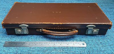 Vintage Brown Leather Masonic Case by Cheney