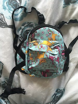 Cute Dog Backpack & Leash Pet Bag Travel Carrier Outdoor Puppy