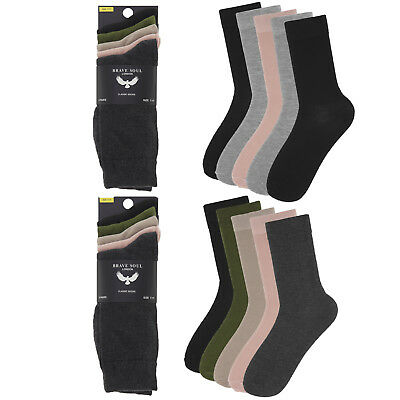 Brave Soul Mens Designer Slater Or Joel 5 Pack Luxury Soft Long Formal Socks