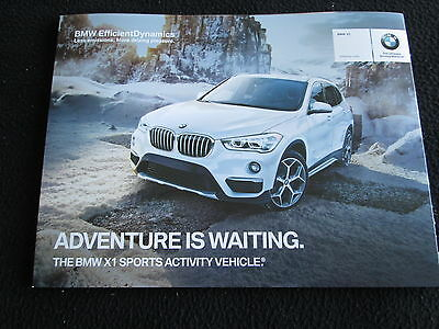 2016 BMW New X1 Intro Brochure X1 xDrive 28i Foldout US Sales Catalog Color chrt