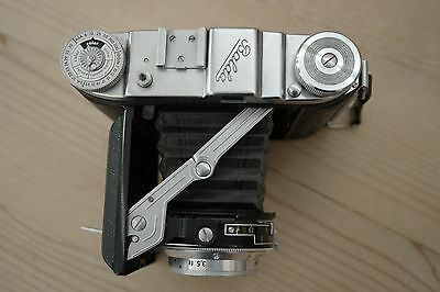 Balda Baldix Rangefinder Camera with 75/2.9 Baltar lens with leather case.
