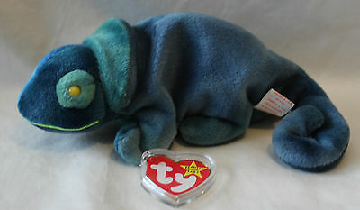 Retired Rainbow the Chameleon - 1997 - Ty Beanie Baby w/Tag Protector - MINT!