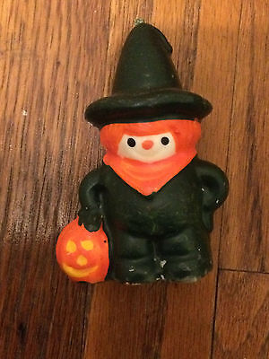 """Vintage Halloween Candle Child In Costume 4"""" X 3"""" 1960's ? Unlit And So Cool!!!"""