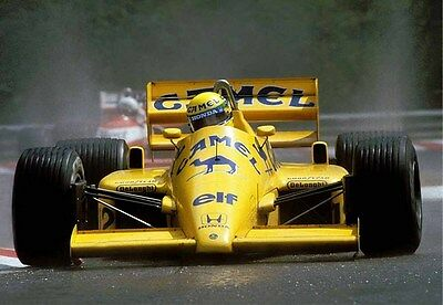 Ayrton Senna,  1987 Belgian Grand Prix, 16 x 12 Unmtd Photo
