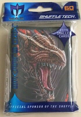 Max Protection Small Fit Howl At The Moon Dragon Trading Card Sleeves 60 Pack