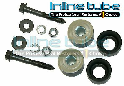 68-72 Chevelle Radiator Core Support Rubber Metal Insert Bushings Body Mounts 12