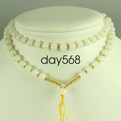 Chinese white jade necklace, pendant preparation rope