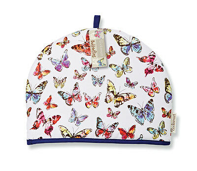 Cooksmart Butterfly Tea Cosy Teapot Pot Cover Warmer Cotton Insulated Nature