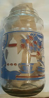 Vintage Maxwell House Coffee Canister Jar Anchor Hocking Kitchen Pantry