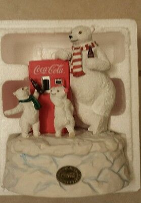 Coca Cola Heritage Collection Refreshing Treat Polar Bear and cubs music box