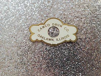 Camco 60s Vintage Oaklawn Badge For Snare Drum Floor Tom Bass Drum NOS New!