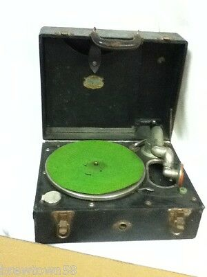 Phonograph Carryola Master America record player 1926 antique phono records MN3