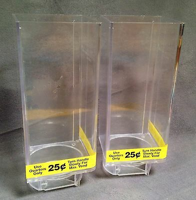 Set Lot of 2 Uturn U Turn Bulk Candy Vending Machine LARGE Canisters
