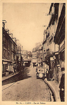 carte photo 14 calvados caen la rue de falaise
