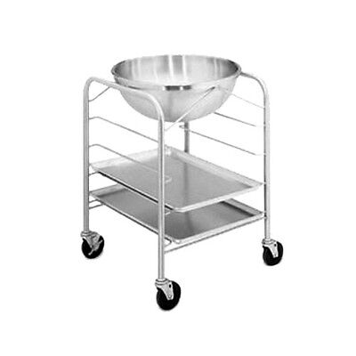 Vollrath 79302 Bowl Stand / Dolly With Tray Slides And 30 Quart Mixing Bowl