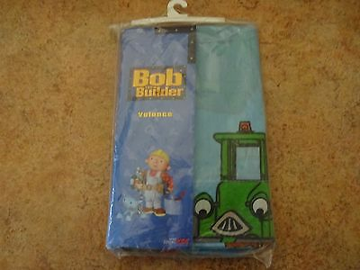 "Nip Bob The Builder We Can Fix It Curtain Valance To Fit 36-48"" Windows"