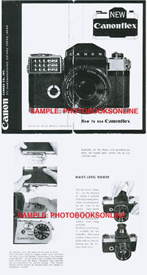 Canon Canonflex Camera Instruction Manual: First Model, 1959