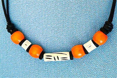 Hand Made Tribal Pendant Mens Womens Boys Girls Surfer Necklace N0392