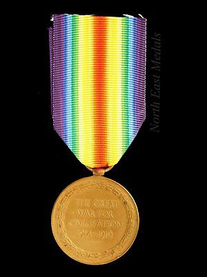 Great War Victory Medal to Driver Sanderson, Royal Artillery. Served Salonica.