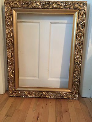 Antique Victorian Acanthus Gilded Large Frame Art or Mirror