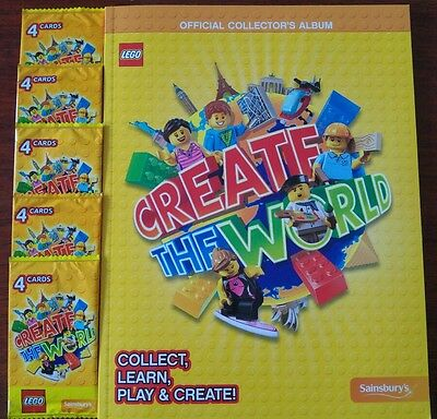 BRAND NEW Lego Create The World Sticker Book with 4 packs of unopened cards