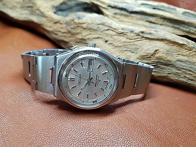 Rare Vintage Seiko Bell Matic Silver Dial Daydate Auto 4006 Man's Watch