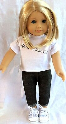 White t-shirt & jeans for 18 inch doll American girl -Design a friend Generation