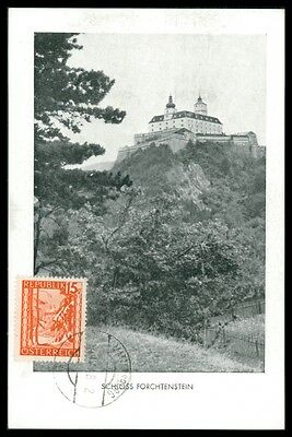 AUSTRIA MK 1948 SCHLOSS FORCHTENSTEIN MAXIMUMKARTE MAXIMUM CARD MC CM h0730