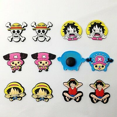12pcs Luffy Tony One Piece Charms Accessories Fit for Clog Sandal/Bracelets Gift