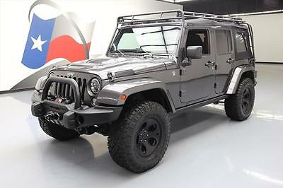 2014 Jeep Wrangler Unlimited Rubicon Sport Utility 4-Door 2014 JEEP WRANGLER UNLTD RUBICON SOFT TOP 4X4 LIFT NAV! #168668 Texas Direct
