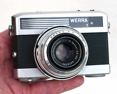 Vintage Carl Zeiss WERRA 1 35mm Camera  VGC GWO Tessar 50mm 2.8 lens