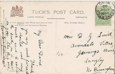 1905 card with single ring Netherton/Worc 28 Sep