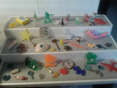 48 Vintage Lot Of Celluloid Metal Plastic Cracker Jack Gumball Toy Prize Charms