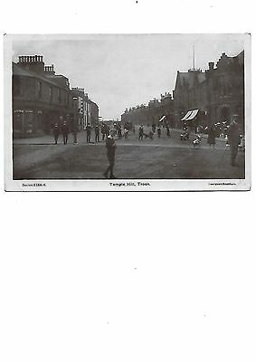 TROON Postcard Temple Early RP Ayrshire Whitley Bay RSO Postmark 1908 Children
