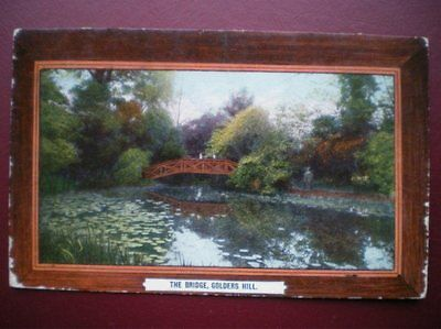 Postcard Rp London Golders Hill - The Bridge