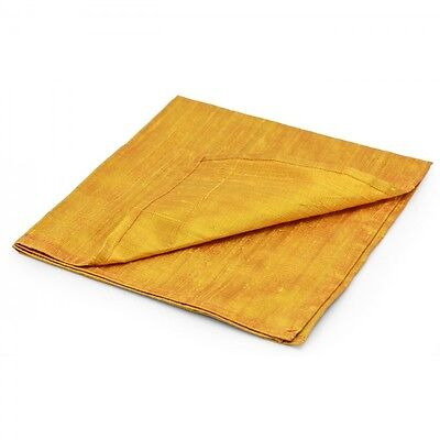 Large 100% Pure SILK Reading Cloth - Gold Coloured (48 x 48 cm)