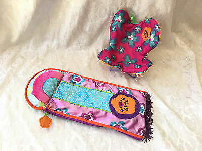 GROOVY GIRL Doll Camp Sleeping Bag,Butterfly CHAIR Toy Furniture Play Accessory