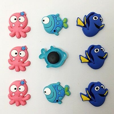 9pcs Lovely Fish Octopus Charm Accessory Fit for Clog Sandal/Bracelet Chid Gift