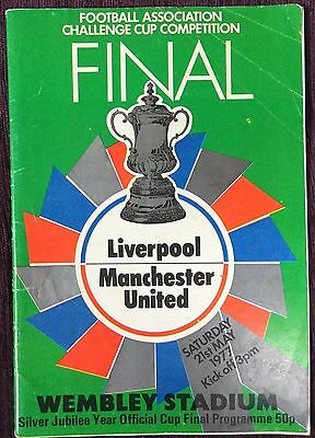 Liverpool V Manchester United 1977 Fa Cup Final Football Programme