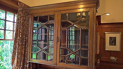 Arts & Crafts Oak Bookcase with Bevelled Glass Panels,  Great Condition (Glasgow