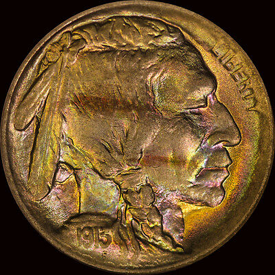 1913 Buffalo Nickel Type 1 Ngc Fatty Ms 65 Toned