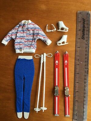 Vintage Barbie Sindy Clothes Skiing