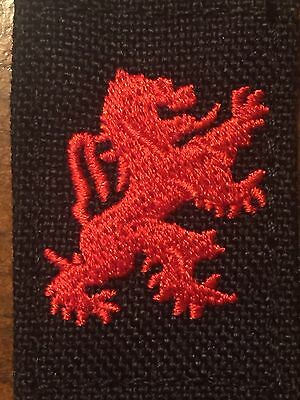 London Bridge LBT Tactical Gear  Embroidered  Red Lion Patch  Hook & Loop