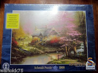 schmidt jigsaw puzzle stepping stone cottage thomas kinkade 1000 rh picclick com