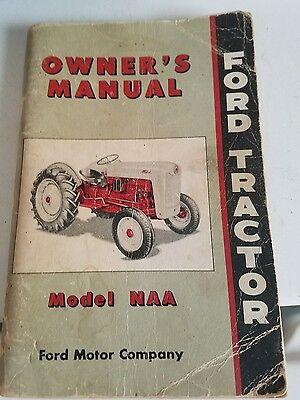Original Ford Tractor Jubilee Owners Manual  Dated 1952