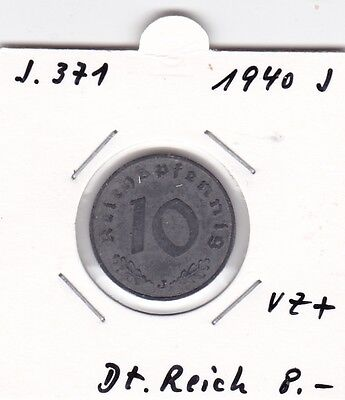 10 Pfennig 1940 J Deutsches Reich German Empire
