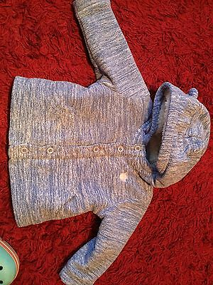 Boys Next Blue Hooded Jacket Fleece Lined 9-12 Months Excellent Condition
