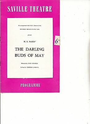 1959 Saville Theatre Programme  - THE DARLING BUDS OF MAY - ELSPETH MARCH