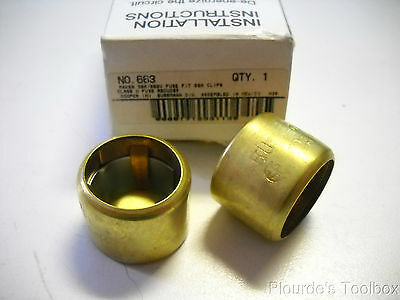 New 1 Pair Bussmann No. 663 Buss Fuse Reducer, 30A/600V to fit 60A Clips, 663