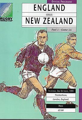 Oct 91 ENGLAND v NEW ZEALAND Rugby World Cup Opening Game